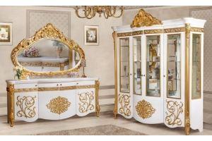 Гостиная Маркиза комод и сервант - Мебельная фабрика «Северо-Кавказская фабрика мебели»