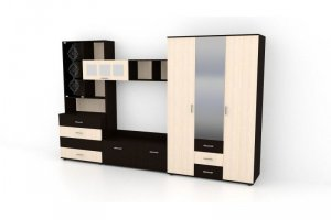Гостиная Марта  + Шкаф Марта  - Мебельная фабрика «Мебель эконом»