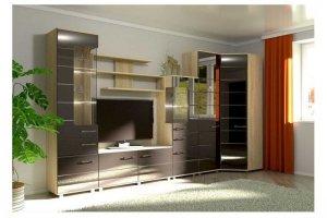 Гостиная МДФ модульная 7 - Мебельная фабрика «Фаворит»