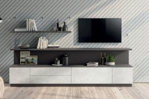 Гостиная МДФ небольшая 11010 - Мебельная фабрика «СМ Вектор»