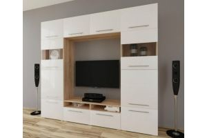 Гостиная МДФ рамкой белая - Мебельная фабрика «МЕБЕЛов»