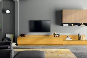 Гостиная МДФ желтая 1108 - Мебельная фабрика «СМ Вектор»