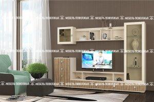 Гостиная Мираж с фасадом из ЛДСП - Мебельная фабрика «Мебель Поволжья»