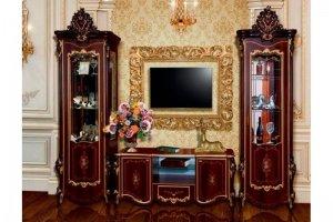 Гостиная модульная темная Шейх - Мебельная фабрика «Мэри-Мебель»