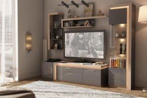 Гостиная Неон Антрацит - Мебельная фабрика «Любимый дом (Алмаз)»