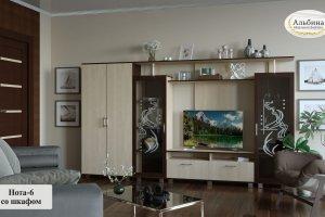 Гостиная Нота 6 со шкафом - Мебельная фабрика «Альбина»
