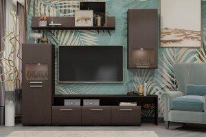 Гостиная модульная Офелия орех - Мебельная фабрика «Гайвамебель»