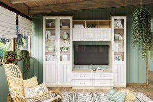 Гостиная со шкафом-витриной Оливия - Мебельная фабрика «Сильва»