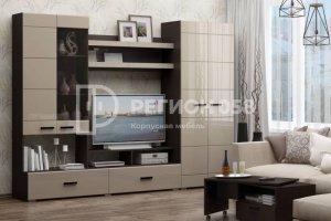 Гостиная прямая глянец Гамма 17 - Мебельная фабрика «Регион 058»