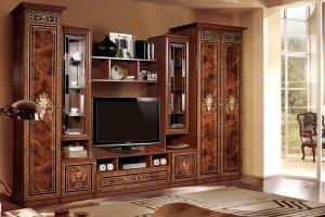 Гостиная прямая Карина 3 орех - Мебельная фабрика «Ярцево»
