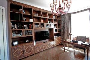 Гостиная Шпон Ореха Сатина - Мебельная фабрика «Мебель Продакшн (Мастерская мебели)»