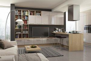 Гостиная со стеллажом Мурано-Франко - Мебельная фабрика «Zetta»
