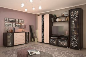 Гостиная Соната 11 - Мебельная фабрика «Можгинский лесокомбинат»