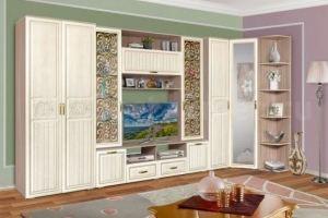 Гостиная стенка Аннета 4 - Мебельная фабрика «Балтика мебель»