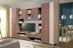 Гостиная стенка Аврора 20 - Мебельная фабрика «Аджио»