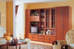 Гостиная стенка Аврора 4 - Мебельная фабрика «Сергачская»