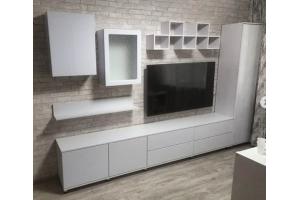 Гостиная стенка белая - Мебельная фабрика «Альянс-АКФ»