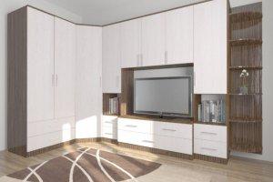 Гостиная стенка Комфорт 15 угловая - Мебельная фабрика «Шадринская»