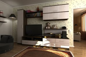 Гостиная стенка Комфорт 19 - Мебельная фабрика «Шадринская»