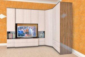 Гостиная стенка Комфорт 7 угловая - Мебельная фабрика «Шадринская»