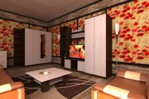 Гостиная стенка Комфорт 9 - Мебельная фабрика «Шадринская»