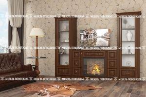 Гостиная стенка Легенда МДФ - Мебельная фабрика «Мебель Поволжья»