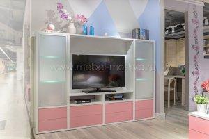 Гостиная стенка молодежная розовая - Мебельная фабрика «Мебель-Москва»