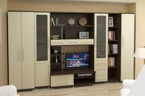 Гостиная стенка МС 18 - Мебельная фабрика «Алекс-Мебель»