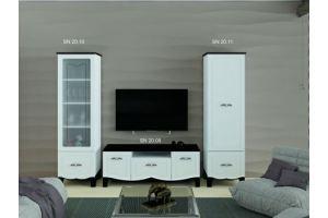 Гостиная стенка Силуэт белый глянец - Мебельная фабрика «SON&C», г. Пенза