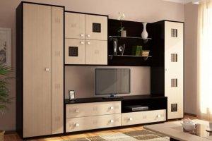Гостиная стенка венге-дуб светлый - Мебельная фабрика «Мебельная мастерская»