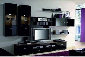Гостиная стенка Янг черный блеск - Импортёр мебели «БРВ-Мебель (Black Red White)»
