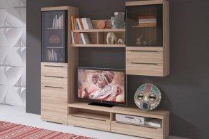 Гостиная светлая УНА 3 - Мебельная фабрика «Сантан»