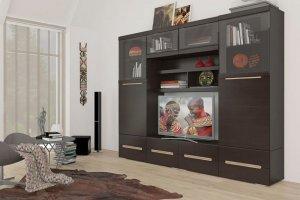 Гостиная темная УНА 4 - Мебельная фабрика «Сантан»