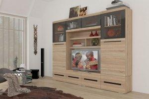Гостиная светлая УНА 4 - Мебельная фабрика «Сантан»