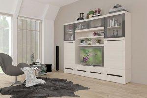 Гостиная белая УНА 4 - Мебельная фабрика «САНТАН»