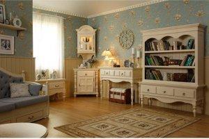 Гостиная Валенсия Капучино №2 - Мебельная фабрика «Wood-Stock»
