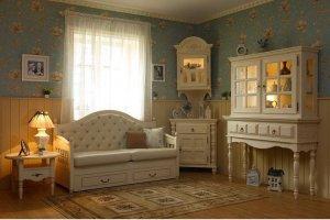 Гостиная Валенсия Капучино 3 - Мебельная фабрика «Wood-Stock»