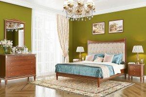 Спальня Verona цвет Орех с золотом - Мебельная фабрика «Уфамебель»