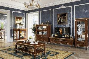 Гостиная Verona из шпонированного массива березы - Мебельная фабрика «Уфамебель»