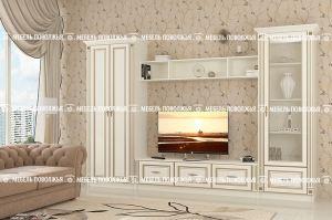 гостиная Виктория МДФ с патиной - Мебельная фабрика «Мебель Поволжья»