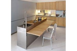 Кухня прямая с островом Граф - Мебельная фабрика «Альфа-М»