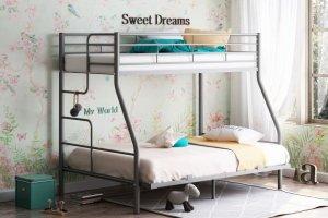 Двухъярусная кровать Гранада-3 140 серая - Мебельная фабрика «Формула мебели»