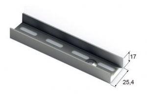 GSA0283-1200 металлик. Направляющая настенная, L=1200 - Оптовый поставщик комплектующих «Aristo»