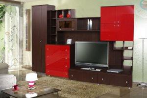 гостиная Хай-Тэк-7 - Мебельная фабрика «Экспо-мебель»