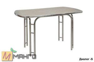 Хромированный стол Диалог S - Мебельная фабрика «Манго»