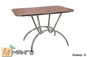 Хромированный стол Клавир S - Мебельная фабрика «Манго»