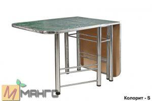 Хромированный стол-книжка Колорит S - Мебельная фабрика «Манго»