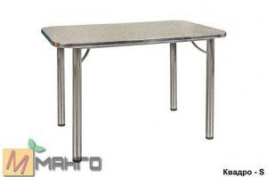 Хромированный стол Квадро S - Мебельная фабрика «Манго»