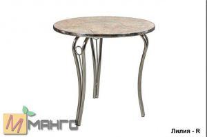 Хромированный стол Лилия R - Мебельная фабрика «Манго»