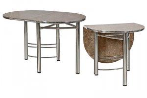 Хромированный стол пристенный - Мебельная фабрика «Вся Мебель»